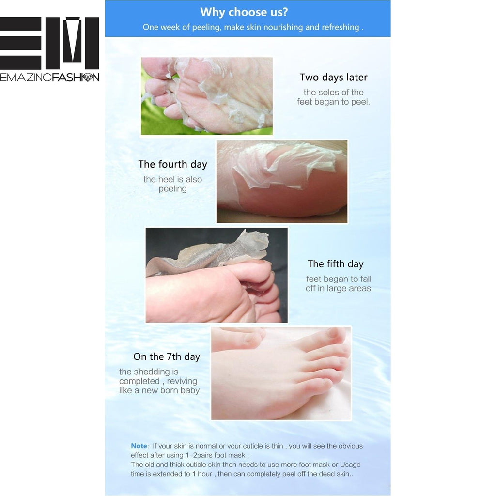 Peeling Exfoliating Baby Smooth Foot Masks - Emazing Fashion