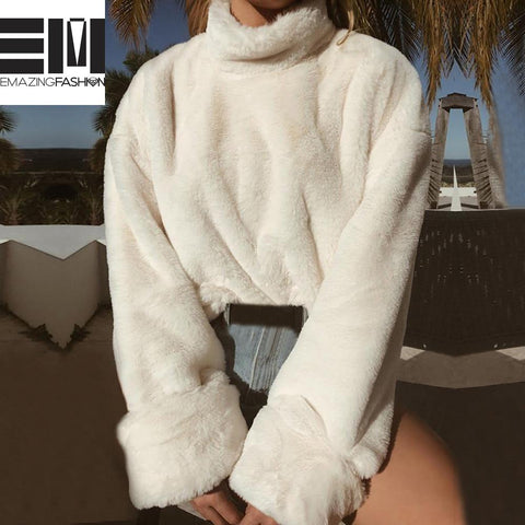 Winter Warm Turtleneck Long Sleeve Cozy Sweater/Pullover