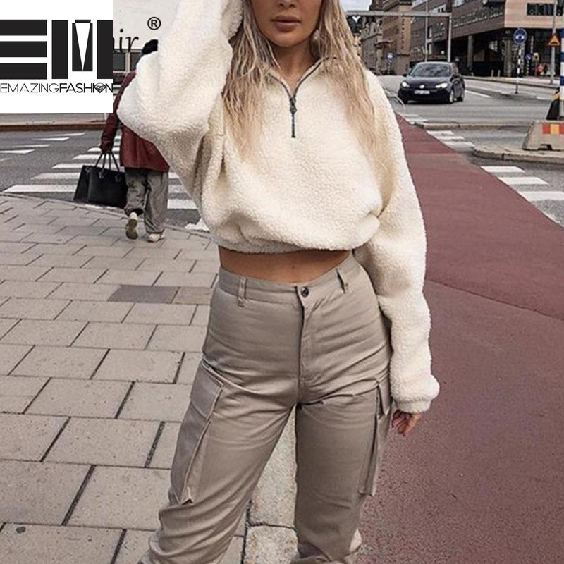 Faux Fluffy White Cropped Pullover - Emazing Fashion