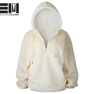 Oh So Comfy Hooded Pullover - Outerwear - Emazing Fashion