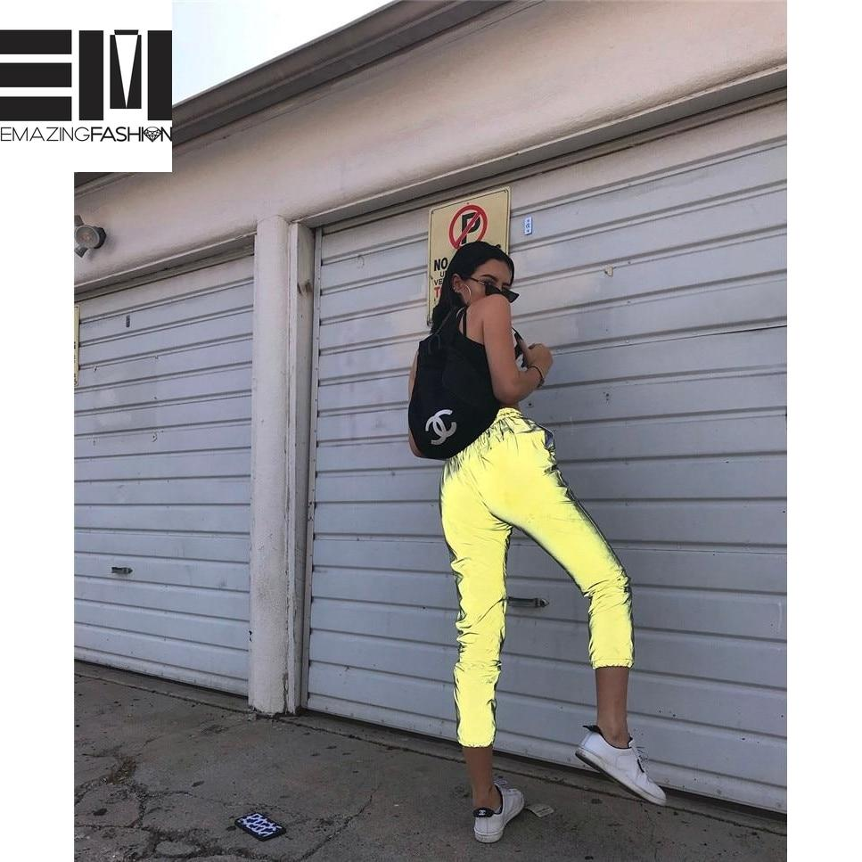 Reflective Baddie Joggers - Emazing Fashion
