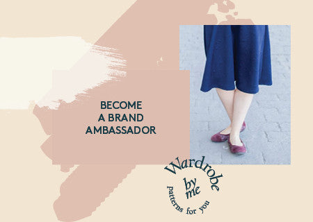 Become a PDF sewing pattern brand ambassador for Wardrobe By Me
