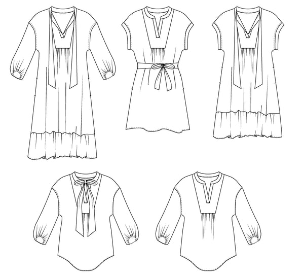 womens tunic dress PDF sewing pattern