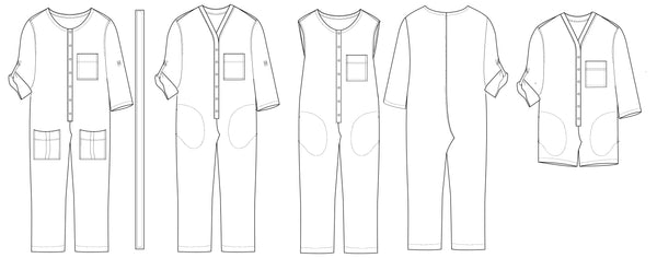 Aviator jumpsuit PDF sewing pattern