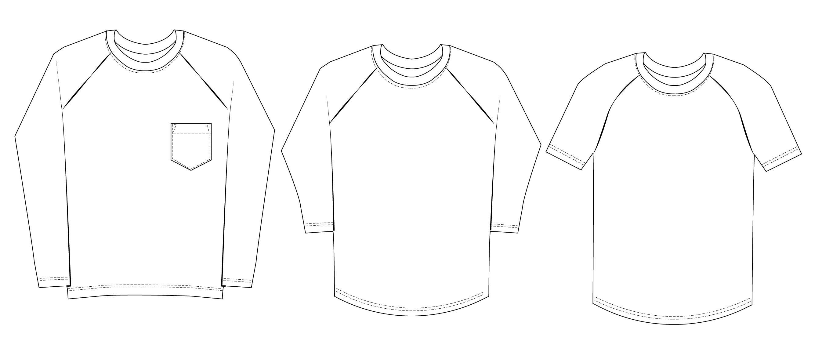 Bram Raglan T-shirt Sewing Pattern Wardrobe By Me PDF
