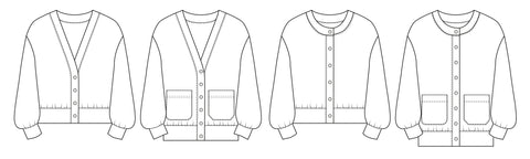 Balloon Cardigan PDF Sewing pattern
