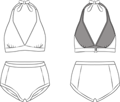 Marilyn Bikini PDF sewing pattern illustration