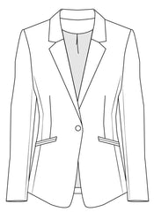 Blazer jacket PDF sewing pattern for women