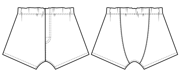 boxer shorts underwear sewing pattern for men