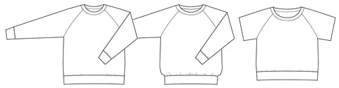 Boxy raglan PDF sewing pattern
