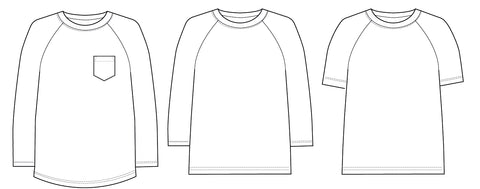 Bram Raglan T-shirt PDF sewing pattern