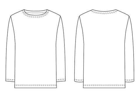 Breton T-shirt PDF sewing pattern for men