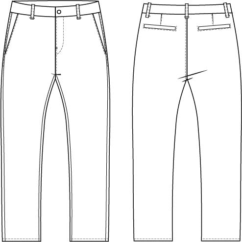 Chino Pants Sewing Pattern Wardrobe By Me PDF Sewing Pattern Classy Pants Sewing Pattern