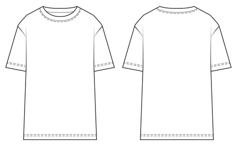 Men's classic T-shirt PDF sewing pattern