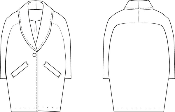 Cocoon coat sewing pattern