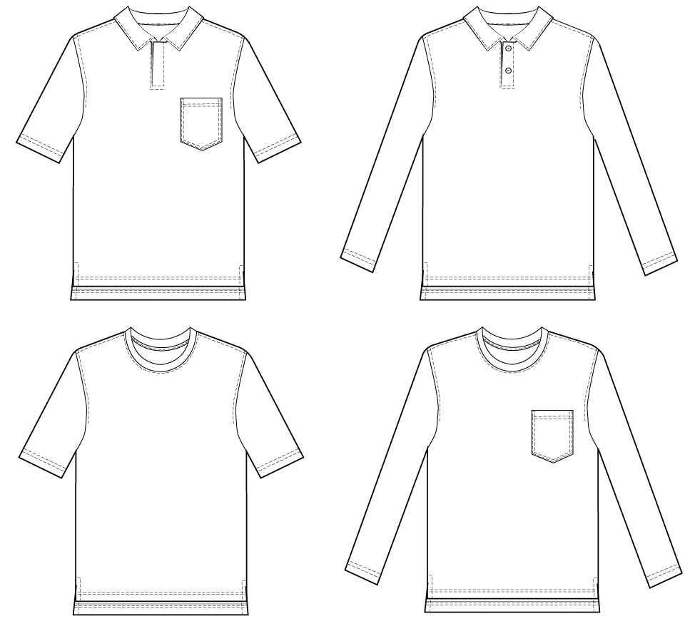 draper polo shirt sewing pattern wardrobe by me pdf sewing