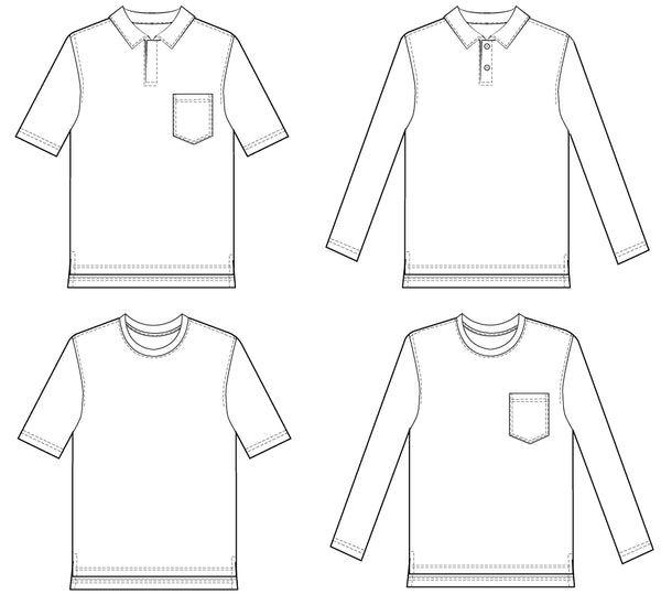 Polo Shirt Sewing Pattern Wardrobe By Me Pdf Sewing Pattern