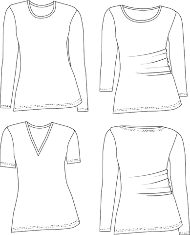 T-shirt PDF sewing pattern for women