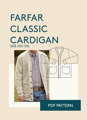 mens cardigan downloadable and printable sewing pattern in PDF format