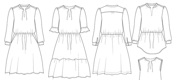 Farrah BOHO dress PDF sewing pattern