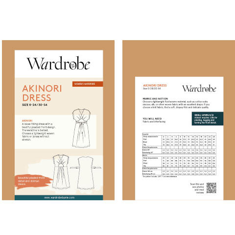 Wardrobe By Me paper pattern front and back