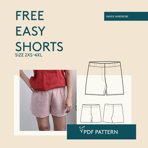 Easy Shorts PDF sewing pattern