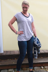 Daisy Dropped shoulder Tee PDF sewing pattern
