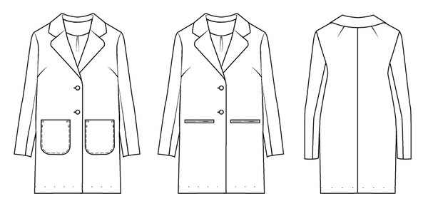 Classic coat sewing pattern
