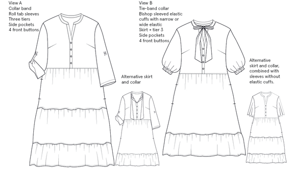 Freedom dress sewing pattern