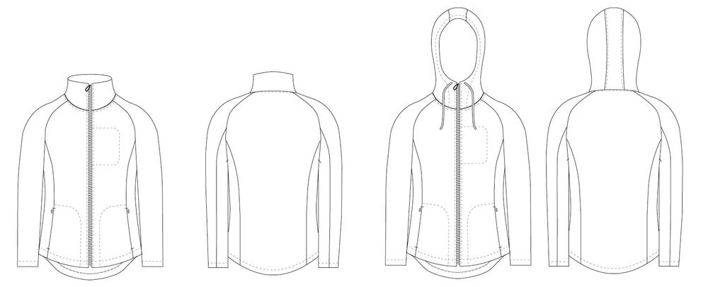 Fleece jacket PDF sewing pattern