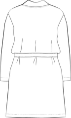 Back view of Norma Jean Kimono PDF sewing pattern illustration
