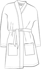 Front view of Norma Jean Kimono PDF sewing pattern illustration