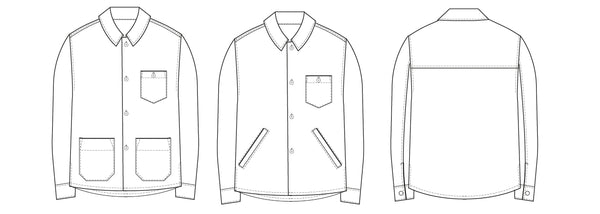 Men's overshirt PDF sewing pattern