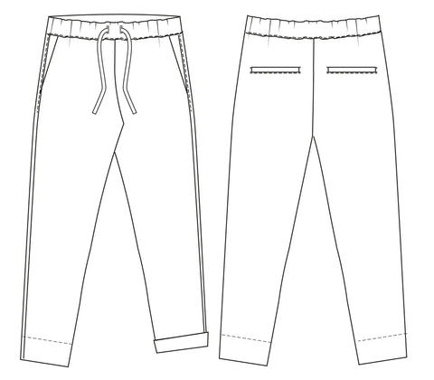 Easy pants PDF sewing pattern