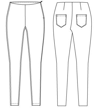 Fitted high waist pants PDF sewing pattern for women