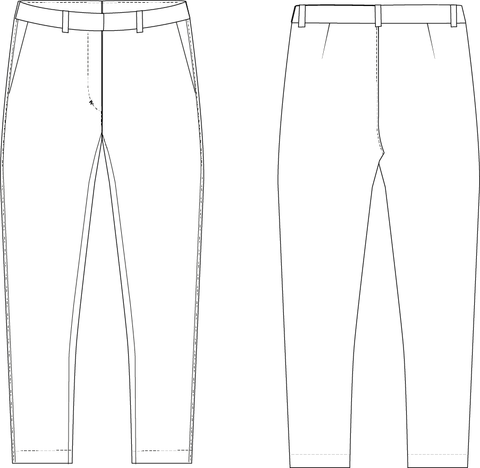 Pants sewing pattern for women