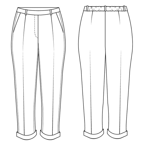 pleated pants PDF sewing pattern