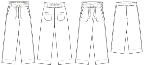 Easy Relaxed pants sewing pattern