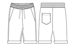 Rebel shorts PDF sewing pattern for men