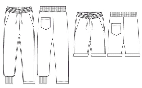 joggers sweatpants PDF sewing pattern