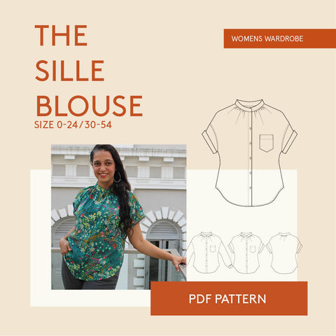 Sille Blouse PDF sewing pattern