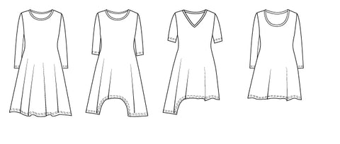 Sneha jersey tunic PDF sewing pattern