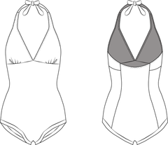 Rita Swimsuit PDF sewing pattern illustration
