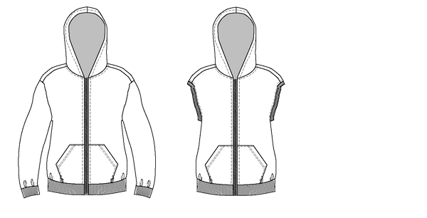zipper hoodie PDF sewing pattern