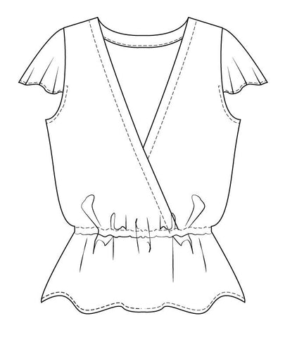 Hera summer top PDF sewing pattern for women