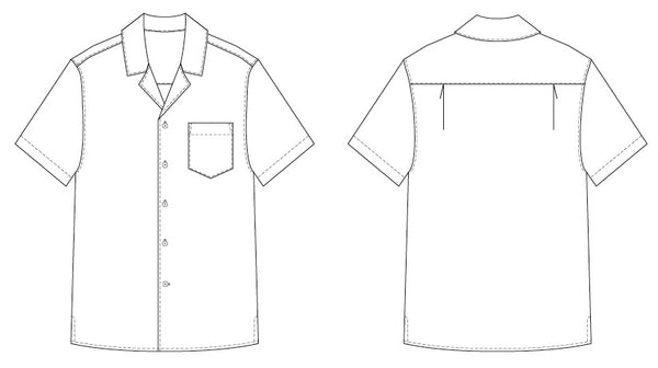 Men's Tropical shirt PDF sewing pattern