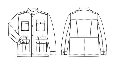 Men's utility Jacket PDF sewing pattern