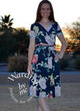 wanda wrap dress PDF sewing pattern