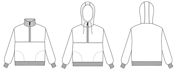 Zip Up sweater PDF sewing pattern