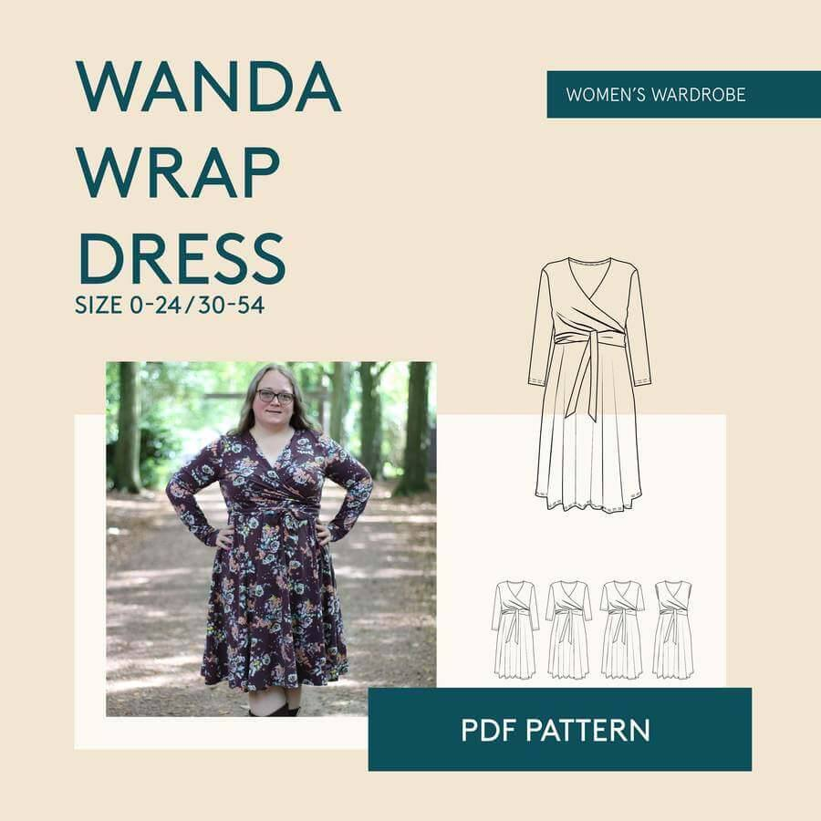 Wanda  Wrap Dress Curvy Sewing Pattern - Wardrobe By Me